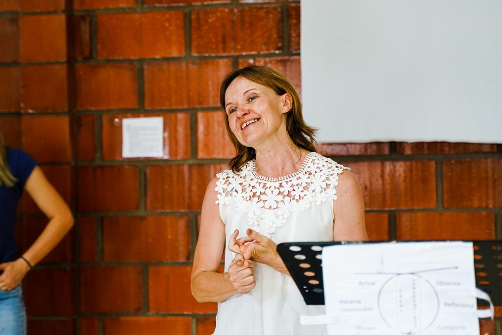Judith Korsgren at her final service in San Isidrio, Paraguay